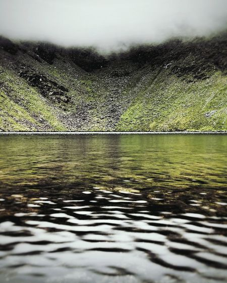 Lough Cummeenapeasta Lough Cummeenapeasta Macgillycuddy's Reeks Co Kerry Ireland Lake Lough Loch  Fresh Water Cloud Mountain Lake Outdoors Mountains Landscape Remote Mountain Range Beauty In Nature No People Tranquil Scene Cloudy Mountain Clouds Fine Art Photography