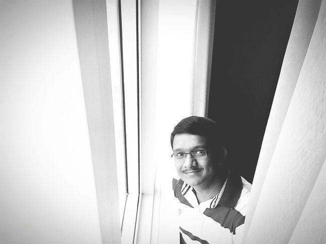 B&W Portrait Selfie ✌ Cute Selfie Happy Smiles Black And White Tamani Dubai