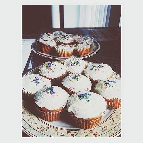 Sprinkly cupcakes