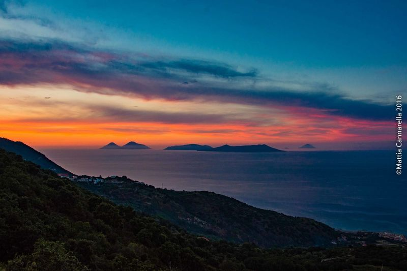 Sunset Landscape Beauty Isole Eolie Isoleeolie Sicily Sicilia Siciliabedda Sicilia Landscape