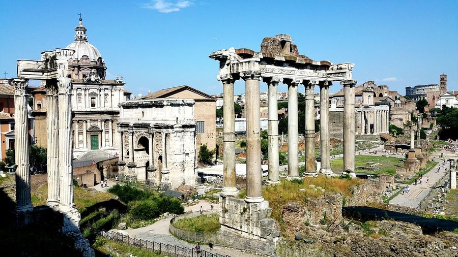 Historic roman forum against sky