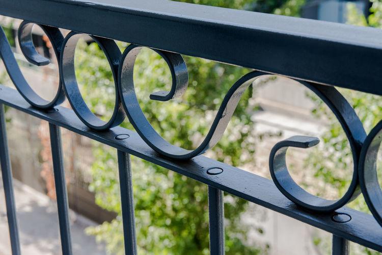 Full frame shot of metal railing