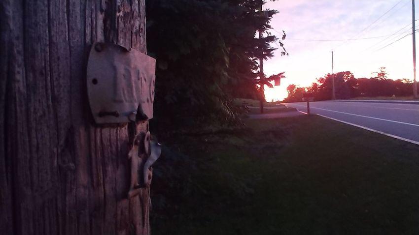 LG V30 Sunset Silhouettes Telephone Pole EyeEm Selects Sunset Sunset Sky