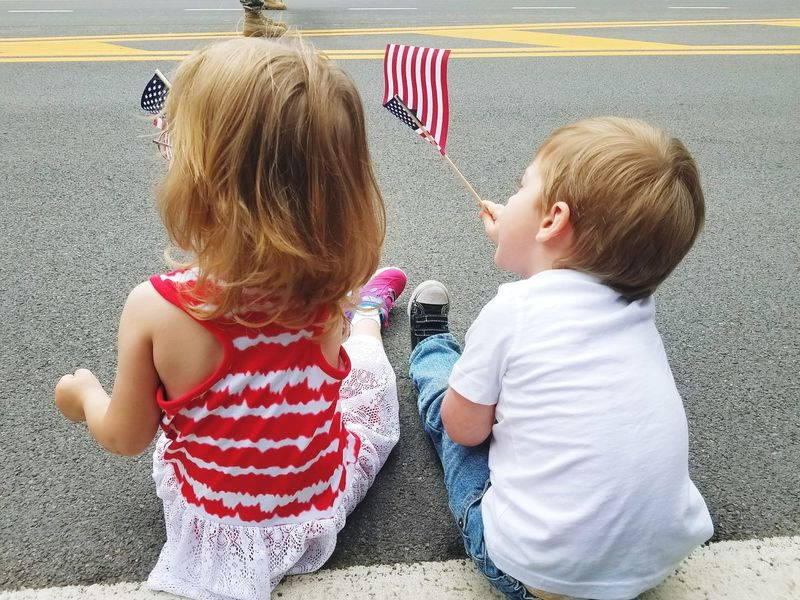 Childhood Toddler  Friendship Children Only Two People Togetherness Parade Memorial Day Children Photography Childhood Memories Children Kidsphotography Toddler Photography Toddlersofeyem Leisure Activity Summer Fun Parade Time American Flag America Memorialdayweekend Memorialday Holiday Holiday Memories Toddlerlife Americanflag