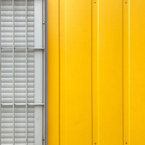 Work-Container Minimalist Minimalist Architecture Minimalobsession Minimalism Wall - Building Feature Yellow Architecture Built Structure No People Backgrounds Building Exterior Full Frame Pattern Door Metal Security Safety Protection Day Building Outdoors Close-up