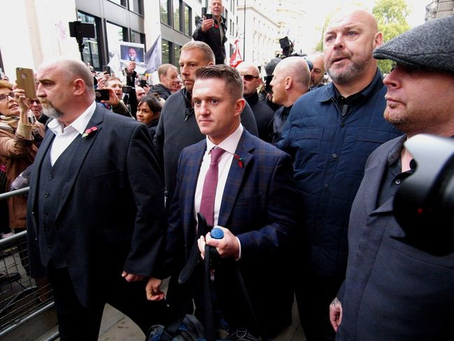 Tommy Robinson. Court case for contempt. Old Bailey Court. London. 23/10/2018 Tommy Robinson EDL Old Bailey London News Olympus Steve Merrick Stevesevilempire Law And Order  Court Case News Journalism Trial Protest Right Wing Britain First Zuiko Metropolitan Police Brexit Islamophobia