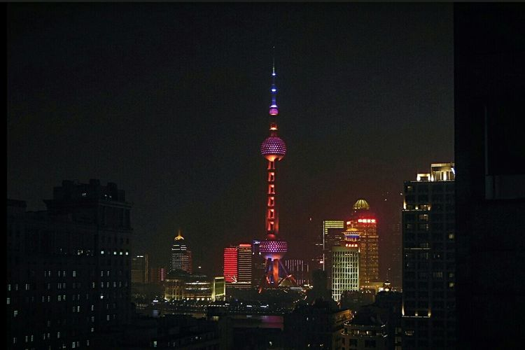 The view from my hotel room. City Lights Viewfrommyroom Architecture Night Photography The Bund