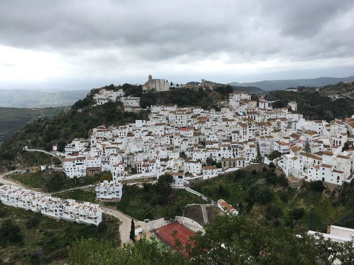 Charming village of Casares Building Exterior Architecture Built Structure Cloud - Sky Sky City Building Nature Tree No People Outdoors TOWNSCAPE Cityscape Day Plant High Angle View