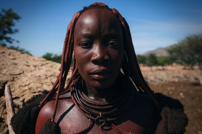 Himba Tribe, Damaraland, Northern Namibia Africa African African Beauty Black Brown Dirt Ethnic Headshot Himba Hut Indigenous  Mud Namibia Ochre Outdoor Portrait Remote Rural Strength Sunlight Tribal Tribe Village Women Around The World EyeEm Diversity