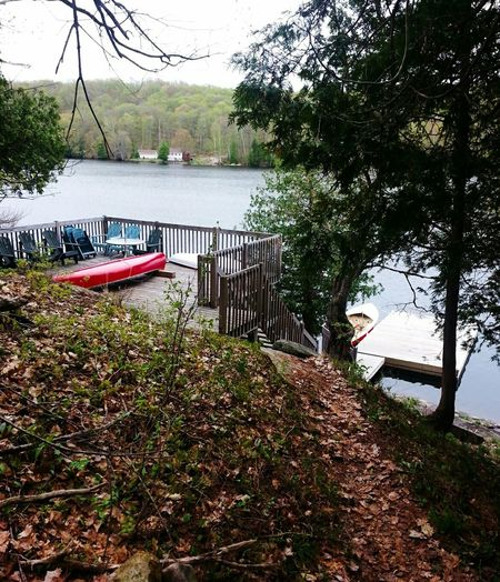 Cottage Opening Weekend Lake Dock Canoe Deck Horseshoe Lake Paddling Lakeshore Boat Water Vehicle