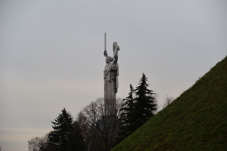 2ww Beauty In Nature Day Forest Kyiv,Ukraine Landscape Motherland Nature No People Outdoors Sculpture Sky Statue Tree