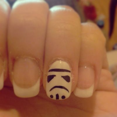 Oh yea! Starwars Nails Stormtroopers