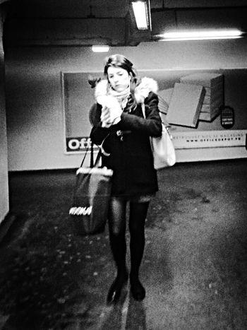 Public Transportation People Monochrome Taking Photos