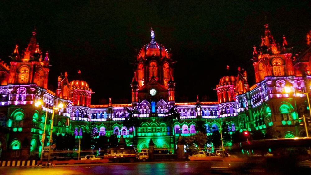 Independence Day India Mumbai Tricolor UNESCO World Heritage Site Structure Building Heritage NationalPride British Outdoors