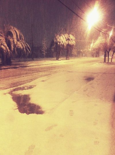 Street Snow ⛄ Could  Night Infinity Sky