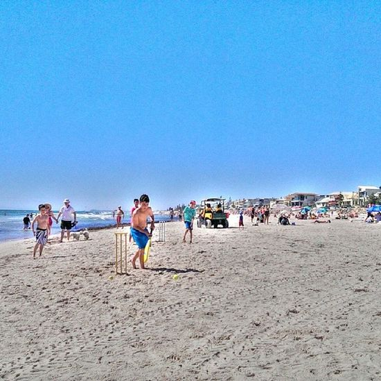 Beachcricket Henleybeach Adelaide Summer hot beach Australia surf sand