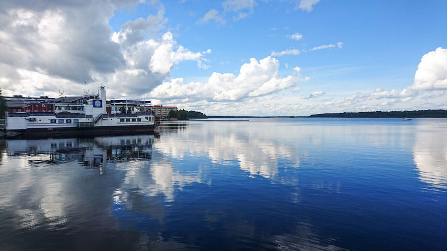 Memory from Luleå this summer Ferry Boat Sony Xperia Mobilephotography Water Reflections Northern Europe Luleå  Lappland Sweden Clouds And Sky Cloudporn Sea And Sky Relaxing Gazing At The Sky