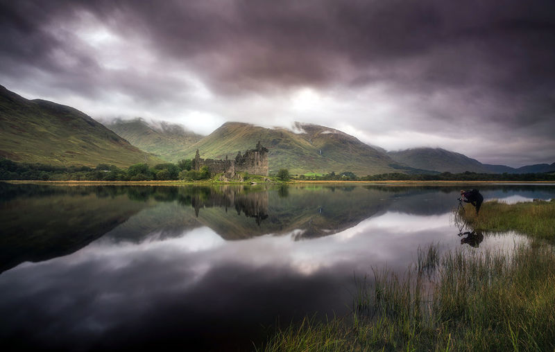 Picture perfect castle. Kilchurn Castle, Loch Awe. Reflection Lake Mountain Landscape EyeEm Best Edits Mountain Range Scotland Landscape_Collection EyeEm Masterclass Mountain_collection EyeEm The Best Shots Outdoors Dramatic Sky Storm Cloud