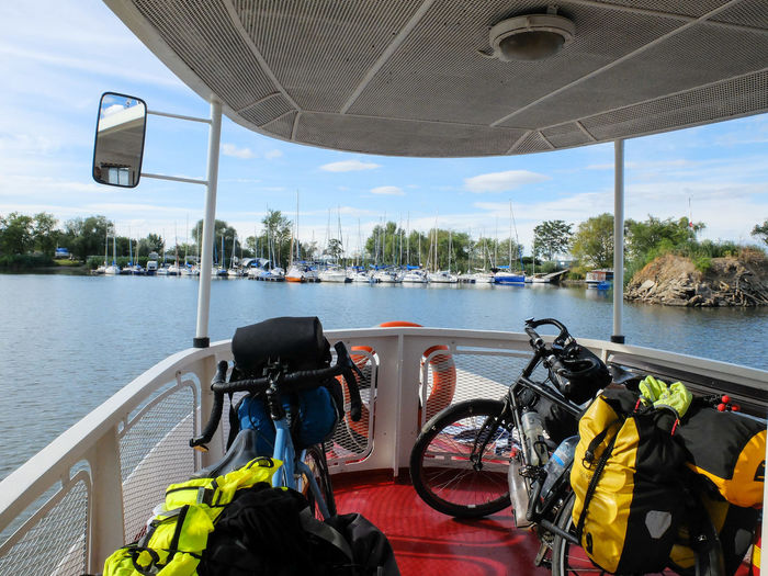 Adventure By Bike Bike Trip Travel Photography Bike Packing Bike Touring Day Mode Of Transport Nature Nautical Vessel No People Outdoors River Scuba Diving Sky Technology Transportation Tree Water Wilderness Adventure
