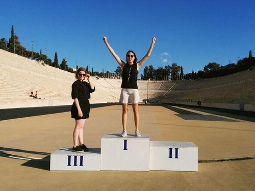 Panathenaicstadium Olimpic Games  Winner Victory Celebrate Your Ride First NumberOne Athens, Greece