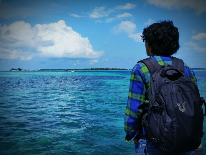 Your travelling is your world Travelling Photography Hello World Sea And Sky Ocean View Enjoying Life INDONESIA Island First Eyeem Photo