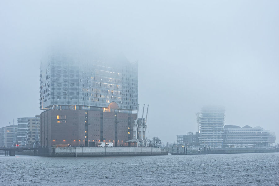 foggy morning Artificial Light Cranes Hafencity Hamburg Hamburg Harbour Marco Polo Tower Modern Architecture Nikon Architecture Building Exterior Built Structure City Cityscape Day Downtown District Early Morning Elbe Elbphilharmony Fog Modern Nikonphotography No People Outdoors Poor Visibility River Sea Sky Skyscraper Urban Skyline Water Waterfront
