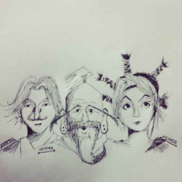 Hunterxhunter Examiner With Netero MasterNetero Satotsu Menchi Anime artist_4_shoutout HappyKid Art PencilsAndPens FunArt Manga Doodle Artoftheday Drawing