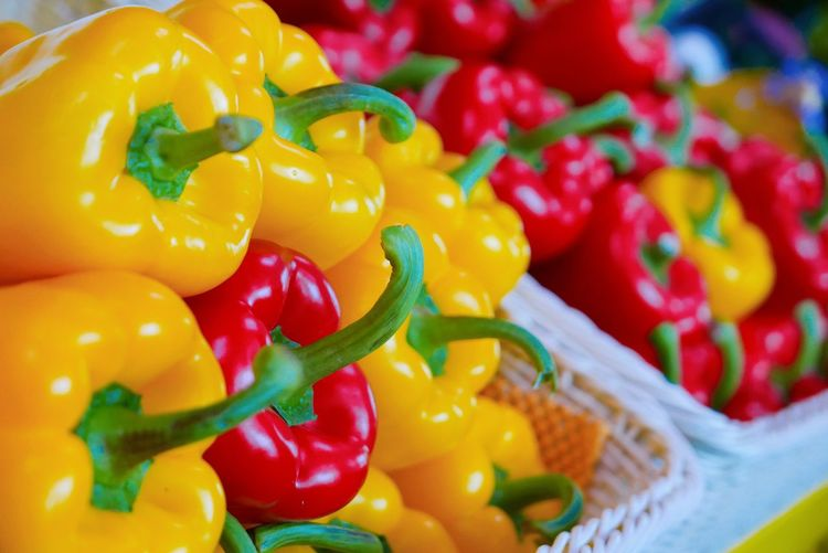 Close-up of bell peppers for sale