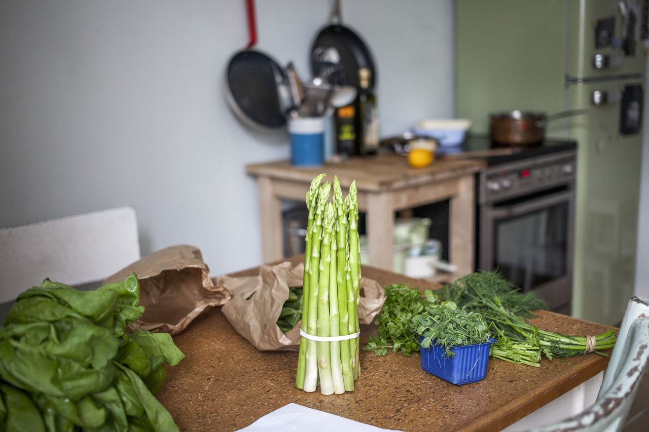 Fresh Ingredients On Table