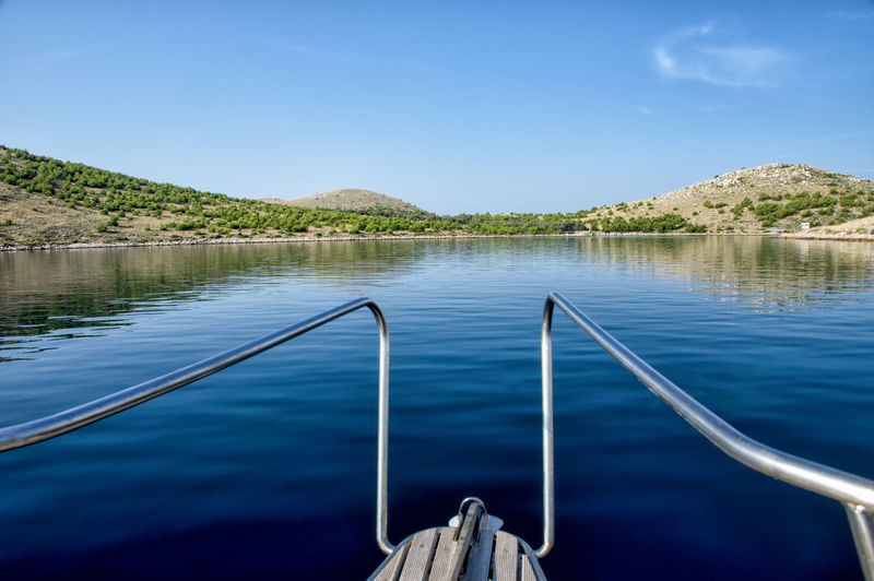 BEautiful Kornat, Tleascica, Adriatic sea, vacations Croatia Telašćica Vacations Adriatic Sea Beauty In Nature Blue Boat Clear Sky Day Kornati Metal Nature No People Outdoors Plant Railing Reflection Sailing Scenics - Nature Sky Summer Tranquil Scene Tranquility Water Yacht