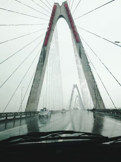 Raining day. Architecture Bridge - Man Made Structure Travel Destinations Day Fog City Love Photograph