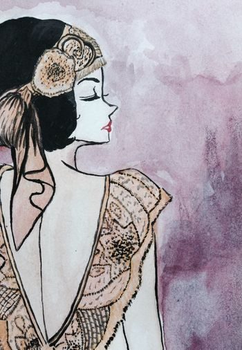Dress 20s Art Ilustracion Ilustration Style Colorful