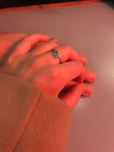 Human Hand Hand Human Body Part Ring Jewelry Finger 17.62° Real People People Women Indoors  Lifestyles Diamond - Gemstone Engagement Ring Body Part Diamond Ring Human Finger Couple - Relationship Close-up Adult Men