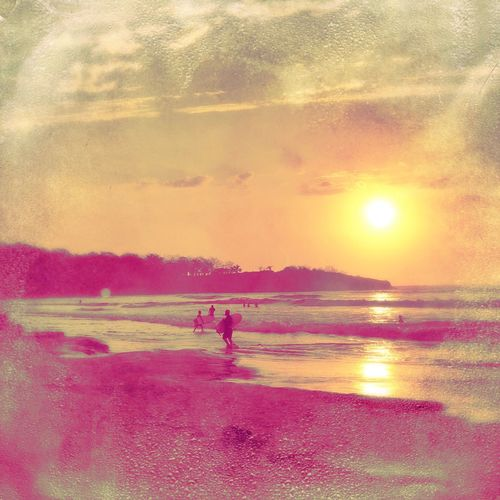 When the sun sets low.. Surfing Going Surfing Incameraeffect No Filter Sunset Scenics Beauty In Nature Sun Nature Reflection Water Beach Sunlight Sea People Tranquil Scene Outdoors Day