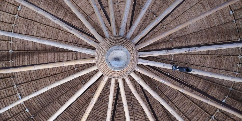 Roof from bamboo