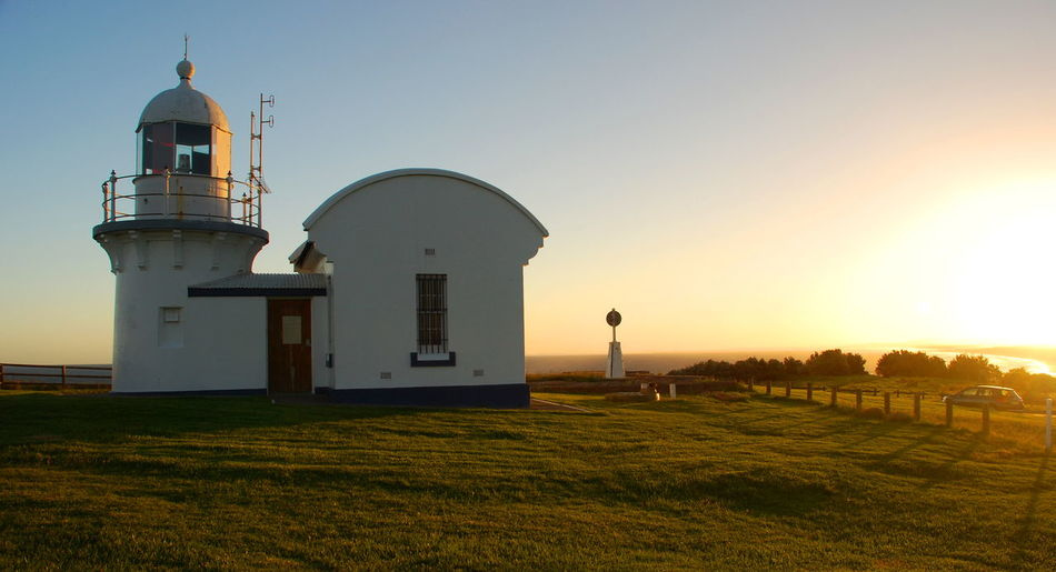 Crowdy Head lighthouse. New South Wales. Australia Architecture Aussie Australia Australian Building Exterior Clear Sky Crowdy Head Downunder EyeEmAustralia Landscape Lighthouse Lighthouses New South Wales  NSW Australia Port Macquarie Sunset Sunset_collection Sunsetporn Tranquility Travel Travel Photography Travelphotography Miles Away
