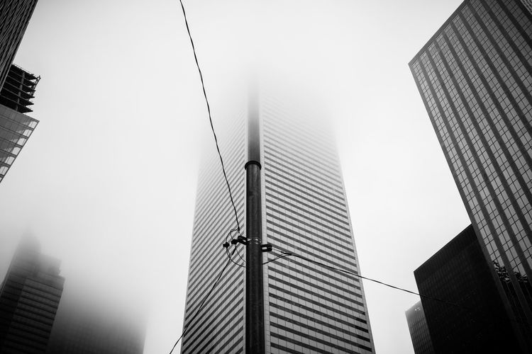 Toronto Canada EyeEm Best Shots - Black + White Blackandwhite Monochrome Black And White Black & White Architecture Cityscape Urbanphotography Urban Exploration Urban Downtown Downtown Toronto Foggy Day Fog The Architect - 2016 EyeEm Awards
