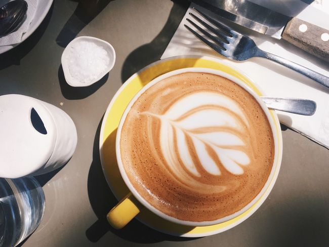 Coffee Cup Drink Frothy Drink Refreshment Coffee - Drink Food And Drink High Angle View Cappuccino Table Froth Art Indoors  No People Saucer Close-up Latte Freshness Day Food