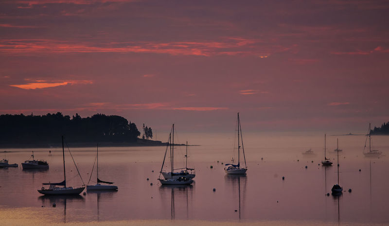 Main Morning Scene Beauty In Nature Boat Cloud - Sky Harbor Maine Morning Mast Mode Of Transport Moored Nature Nautical Vessel No People Outdoors Sailboat Scenics Sea Silhouette Sky Sunrise Sunrise - Dawn Sunrise And Clouds Sunrise_sunsets_aroundworld Tranquil Scene Tranquility Transportation Water