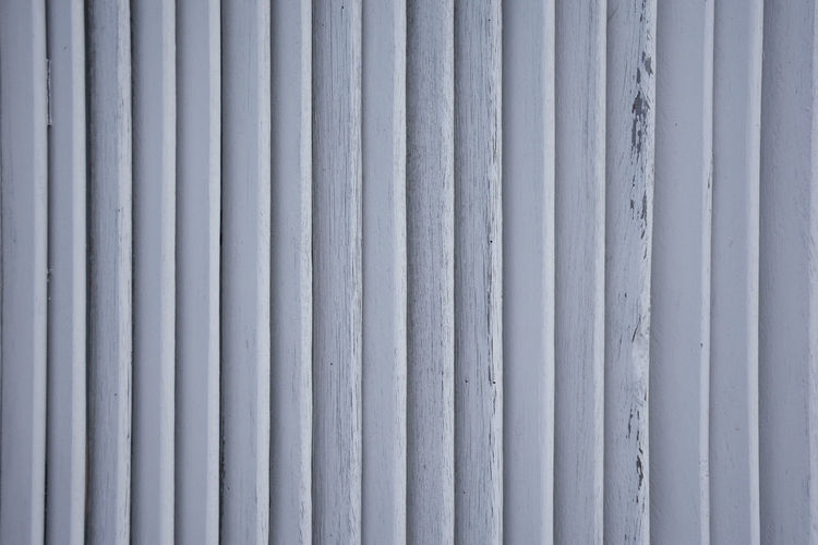 White small wooden wall batten for background and backdrop. Backgrounds Full Frame Pattern Metal Textured  No People Close-up Corrugated Iron Day Iron Security Repetition Protection Wall - Building Feature Safety Corrugated White Color Silver Colored Side By Side Architecture Sheet Metal Parallel