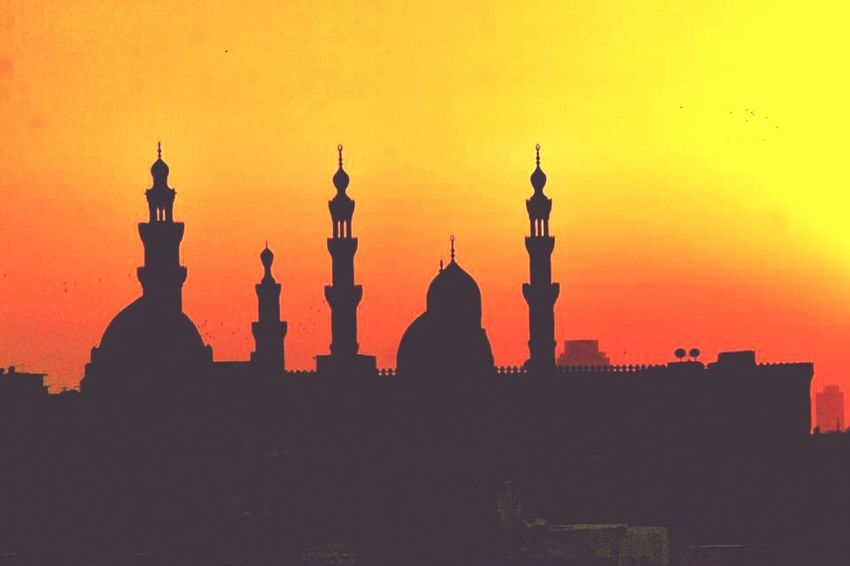 Egypt Mosques Silhouette Ancient Town Sunset Places Cairo Egypt Check This Out Old_cairo Mosque