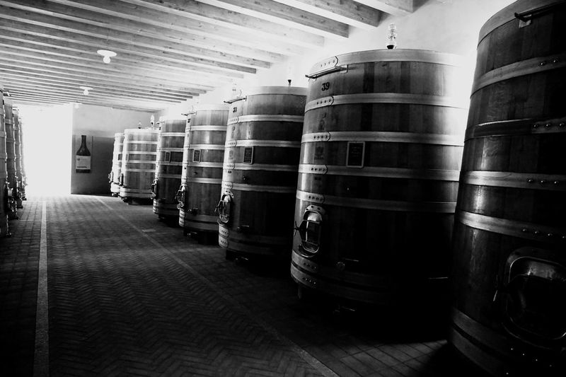 Barolo Barolo Wineyards Barolo Wine Piemonte Italy Winecellar Tourist Destination Indoors  Large Group Of Objects Architecture In A Row Stack No People Building Business Food And Drink Alcohol Drink