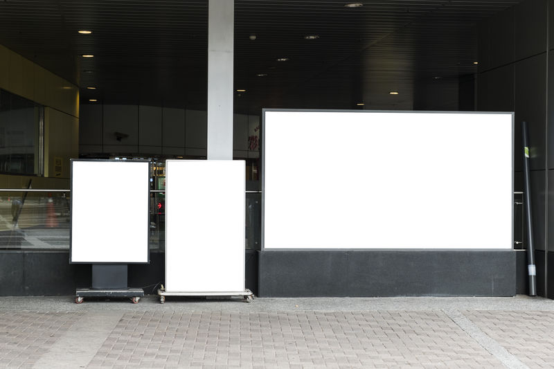 Advertisement Architecture Billboard Blank Building Built Structure Business Commercial Sign Copy Space Empty Entrance Flooring Footpath Indoors  Marketing No People Station Wall - Building Feature White Color