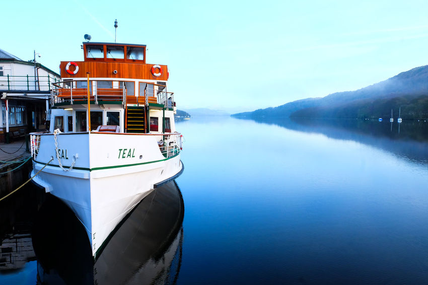 Ferryboat Lake District National Park Beauty In Nature Clear Sky Day Lake Side Lake View Mode Of Transport Moored Mountain Nature Nautical Vessel No People Outdoors Scenics Sea Sky Tranquil Scene Tranquility Transportation Water Windemere Windermere Windermere Steamer Windermerelake