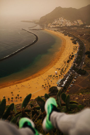 From above - Tenerife Calima EyeEm Nature Lover EyeEm Selects Foggy Weather Ocean View SPAIN TeamCanon Aerial View Beach Environment Focus On Background Fromabove High Angle View Land Landscape Nature Outdoors Plant Real People Sandy Beach Santacruz Scenics - Nature Tenerife Travel Destinations Water