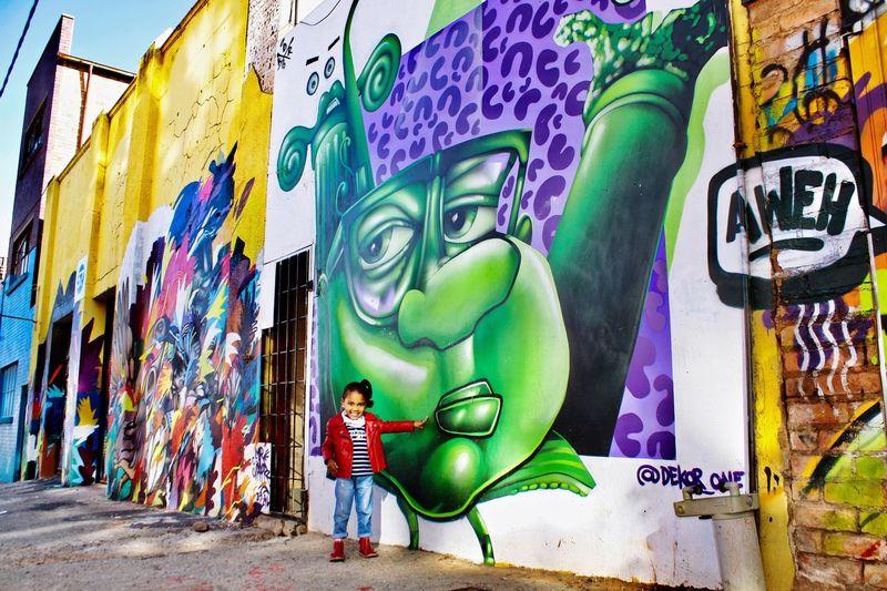 Favorite Beautiful Girl Graffiti Multi Colored Full Length Maboneng Precinct EyeEm Selects