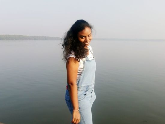 EyeEm Selects Water Long Hair Beautiful Woman Only Women Beauty Lake Portrait Standing One Woman Only One Person People Adults Only Young Adult Beautiful People Adult Smiling Nature One Young Woman Only Day Young Women