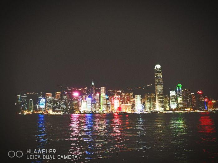 Hongkong at night. First Eyeem Photo