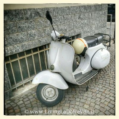 Old Vespa in the streets of Celleligure LivingLaDolceVita