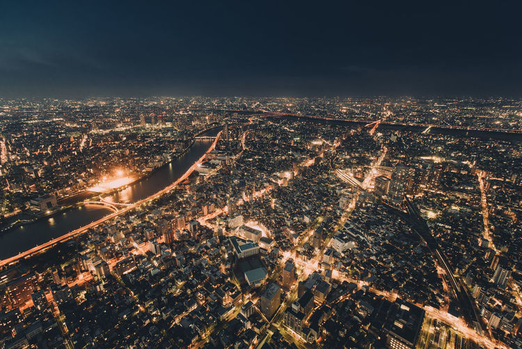 Another shot of the view at Tokyo Skytree. City Lights Glowing Japan Night Night Photography Skyline Skytree Tokyo Tower Travel